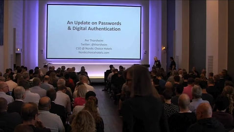 Thumbnail for entry An update on passwords & digital authentication by Per Thorsheim
