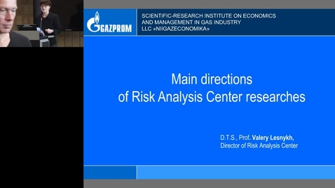 Thumbnail for entry Risk research at Gazprom