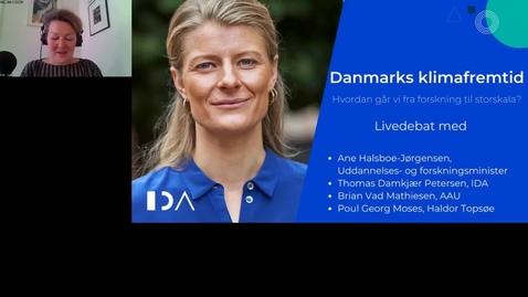 Thumbnail for entry Debat med Ane Halsboe-Jørgensen om forskningens rolle i Power2X
