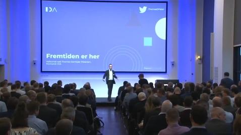 """Thumbnail for entry Velkomst til """"Industri 4.0 - Fremtidens intelligente industri"""" 2020, Thomas Damkjær Petersen, IDA"""
