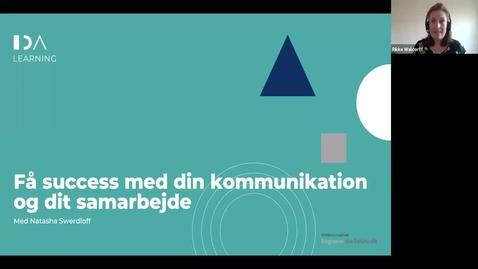 Thumbnail for entry Få succes med din kommunikation og samarbejde