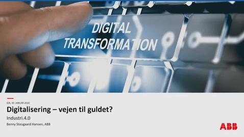 Thumbnail for entry Digitalisering - vejen til at finde guldet, Benny Stougaard Hansen, ABB