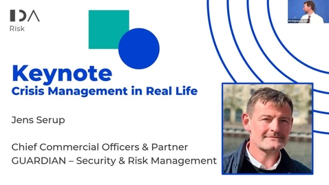 Thumbnail for entry 7th Risk Management Conf - Crisis management in real life