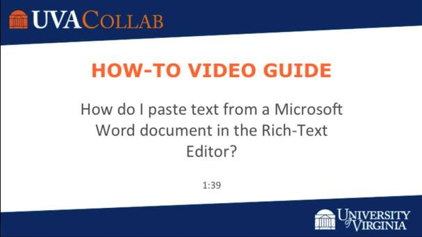 How do I paste text from a Microsoft Word document in the