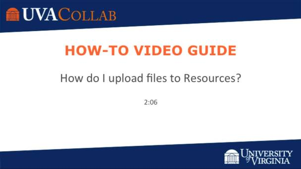 How do I upload files to Resources or File Drop? | For