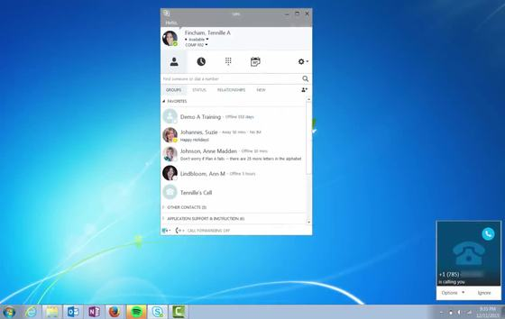 Skype for Business Phone Service - Make, Answer, and End a