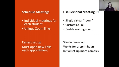Thumbnail for entry Advising via Zoom Part 1 of 3: Set up & Technical Tips