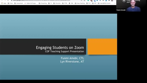 Thumbnail for entry COF Teaching Support Presentation - Engaging Students on Zoom