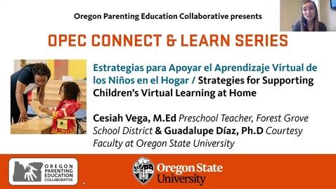 Thumbnail for entry Estrategias para Apoyar el Aprendizaje Virtual de los Niños en el Hogar