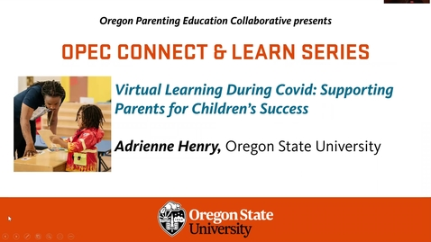 Thumbnail for entry Virtual Learning During Covid: Supporting Parents for Children's Success