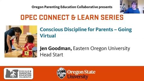 Thumbnail for entry Conscious Discipline for Parents – Going Virtual