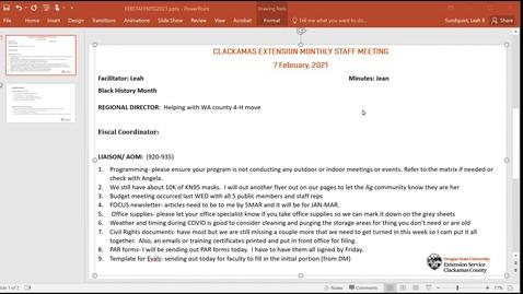 Thumbnail for entry Clackamas FEB Staff Meeting