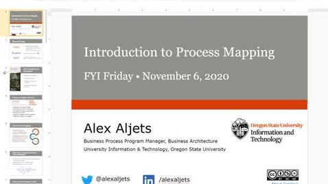 Thumbnail for entry FYI Friday - Introduction to Process Mapping