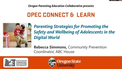 Thumbnail for entry Parenting Strategies for Promoting the Safety and Wellbeing of Adolescents in the Digital World
