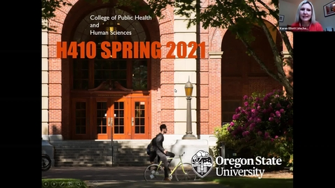 Thumbnail for entry Spring 2021 H410 Informational Video