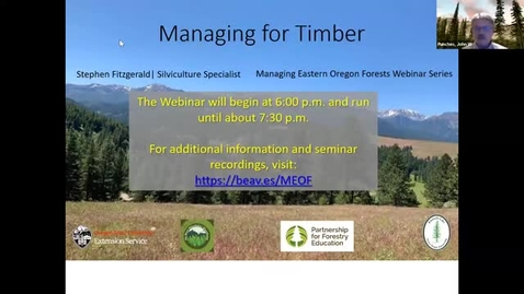 Thumbnail for entry Managing Eastern Oregon Forests: Managing for Timber