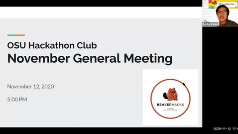 Thumbnail for entry OSU Hackathon Club - November General Meeting