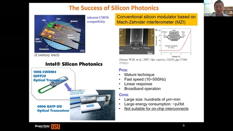 Thumbnail for entry Tech Talk Tuesday: Heterogeneous Integration of Transparent Conductive Oxides with Silicon Photonics