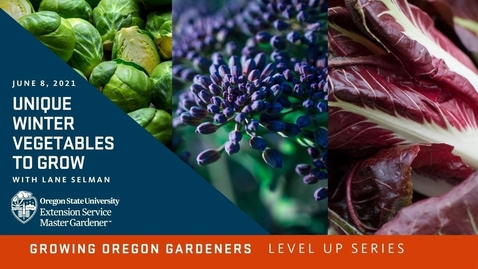 Thumbnail for entry Growing Oregon Gardeners: Unique Winter Vegetables to Grow with Lane Selman