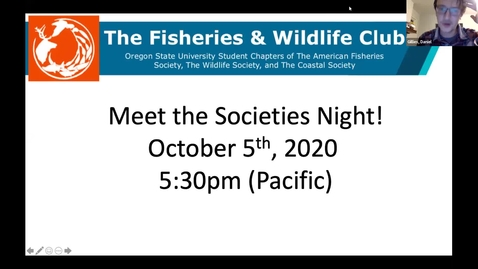 Thumbnail for entry F&W Club: Meet the Professional Societies