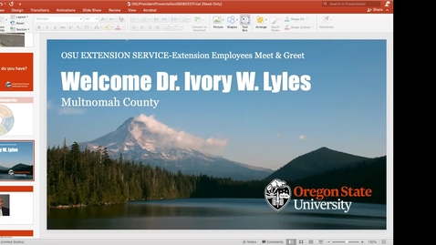 Thumbnail for entry Multnomah All Staff meeting with Dr. Ivory Lyles