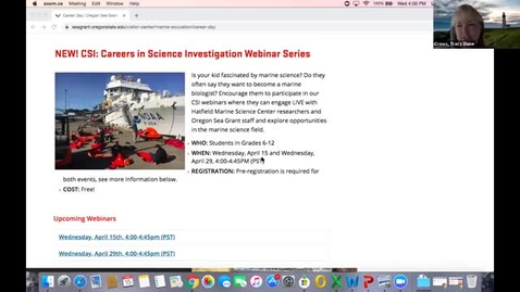 Thumbnail for entry CSI: Careers in Science Investigation Webinar