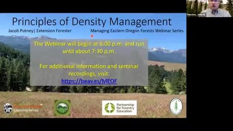 Thumbnail for entry Managing Eastern Oregon Forests: Principles of Density Management