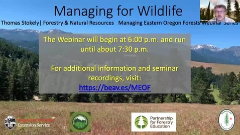 Thumbnail for entry Managing Eastern Oregon Forests: Managing for Wildlife