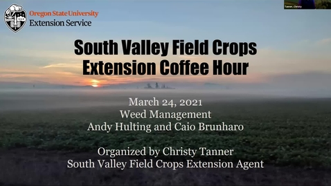 Thumbnail for entry South Willamette Valley Field Crops Extension Coffee Hours