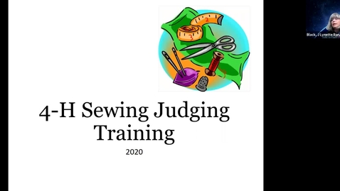 Thumbnail for entry Oregon 4-H Clothing Judging Training