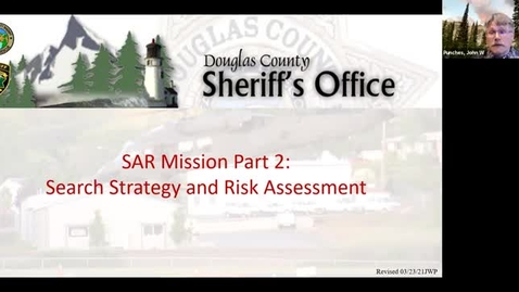 Thumbnail for entry DC SAR Academy: SAR Missions Part 2; Search Strategy and Risk Assessment