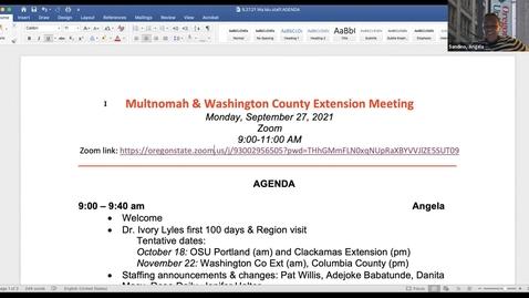 Thumbnail for entry Multnomah & Washington County All Staff meeting