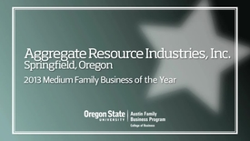 Thumbnail for entry 2013 Aggregate Resource Industries, Inc. Excellence in Family Business Awards