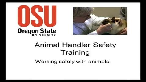 Thumbnail for entry Animal Handler Safety Training