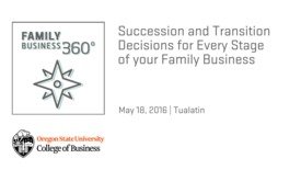 Thumbnail for entry Succession and Transition Decisions for Every Stage of Your Family Business