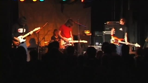 """Thumbnail for entry """"The Meow Meow Show"""" [KBVR-TV]  - performance by Armor for Sleep, October 30, 2004"""