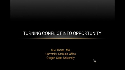 Thumbnail for entry Turning Conflict into Opportunity