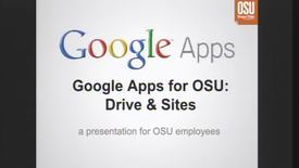 Thumbnail for entry Google Apps for OSU Part 2: Drive and Sites