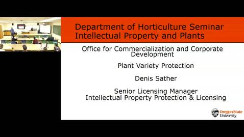 Thumbnail for entry Horticulture Special Seminar-Plant Variety Protection - Denis Sather 02 May 2019