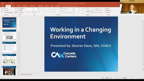 Thumbnail for entry EAP Presentation: Working in a Changing Environment