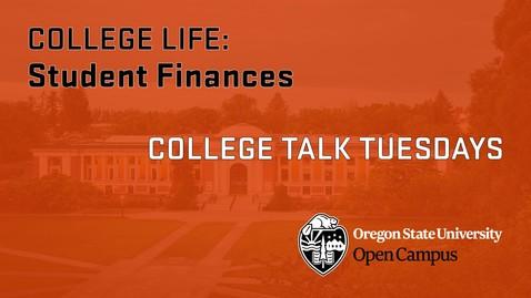 Thumbnail for entry CTT 2 Student Finances
