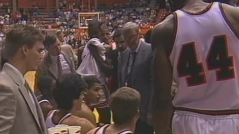 Thumbnail for entry Oregon State University basketball timeout footage, 1986