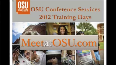 Thumbnail for entry How to Plan a Conference at OSU or Off Campus