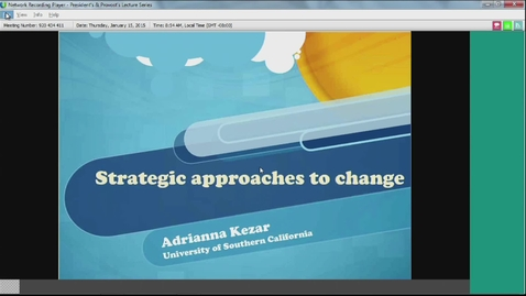 Thumbnail for entry Strategic Approaches to Change by Adrianna Kezar