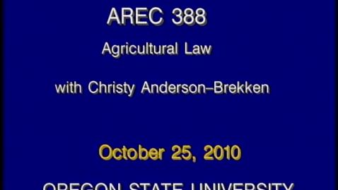 Thumbnail for entry AREC 388 Fall 2010 - Lecture 09