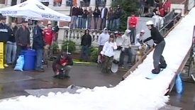 """Thumbnail for entry """"Snow in the Quad"""" - Promotional film for 2007 Event"""