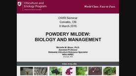 Thumbnail for entry Powdery Mildew: Biology and Management