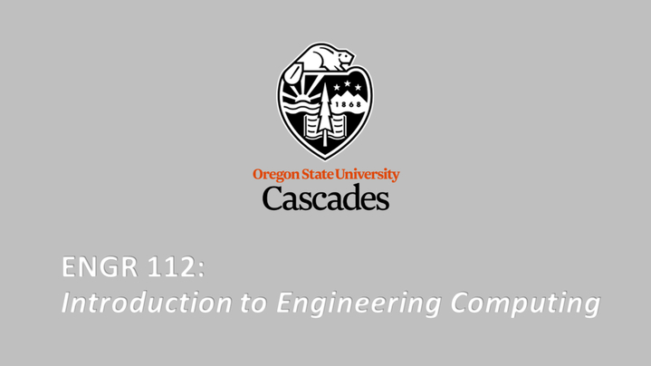Thumbnail for channel ENGR 112 - Introduction to Engineering Computing