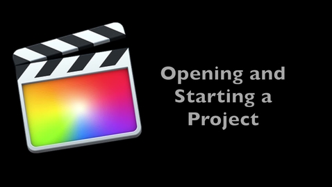 Thumbnail for entry Final Cut Pro X 10.1 -- Starting a Project