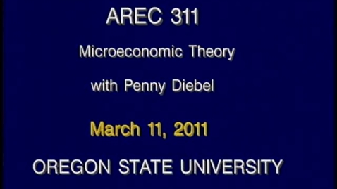 Thumbnail for entry AREC 311 Winter 2011 - Lecture 33